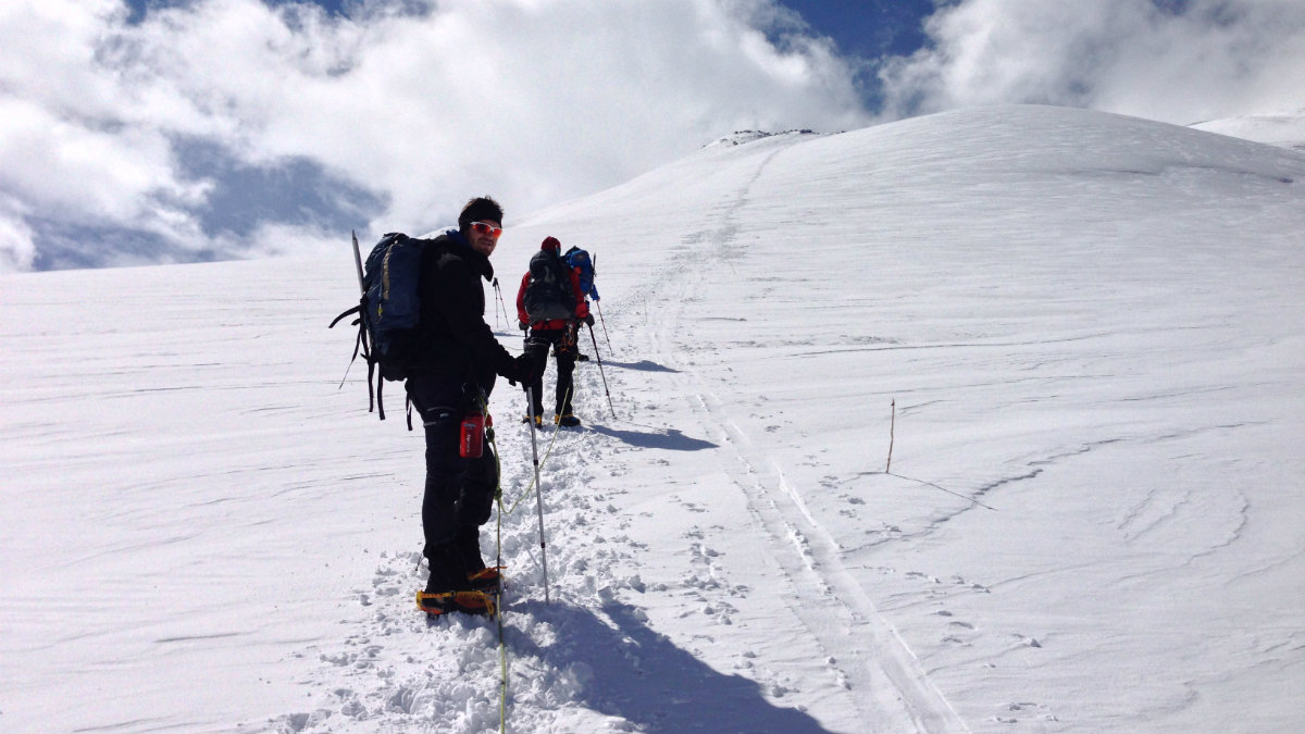 Getting closer to the summit of Mount Elbrus