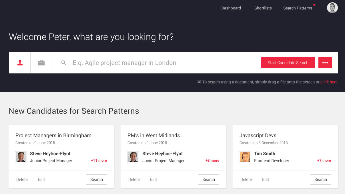 Search & Match Redesign